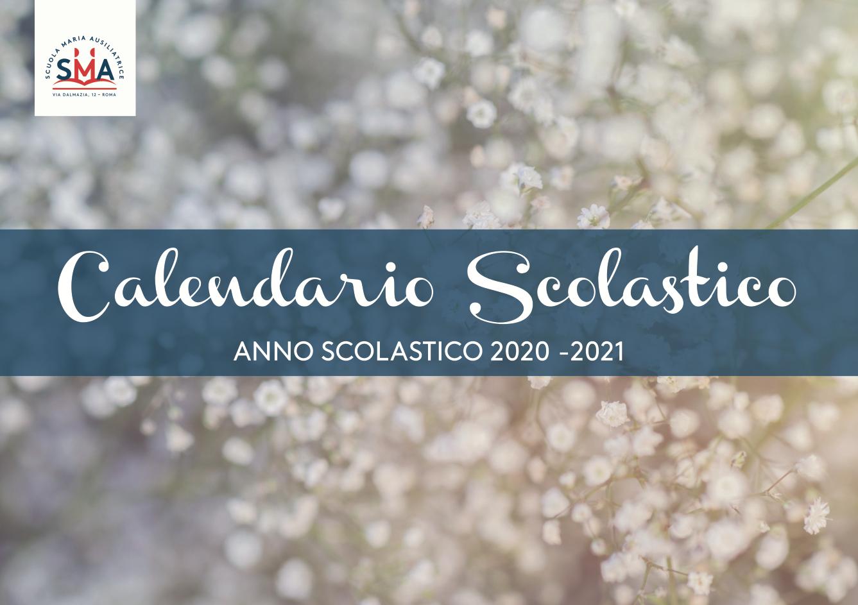 Online il calendario scolastico 2020/21 | Scuola Maria